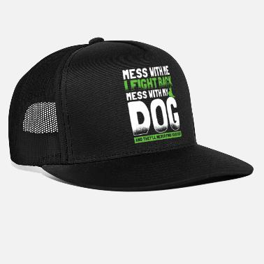 German Shepherd Leave me alone dog fighting dog gift - Trucker Cap