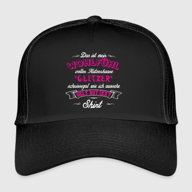 Scheißegal Ugly but sexy pink Katzenhaare Glitzer Shirt - Trucker Cap