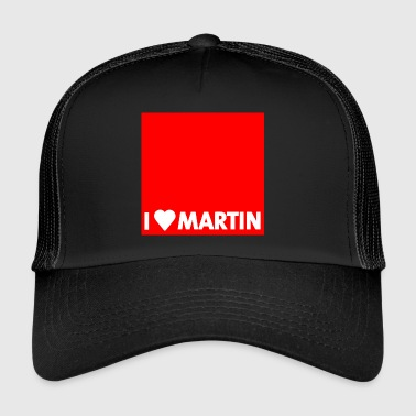 Spd I heart Martin red with edge - Trucker Cap