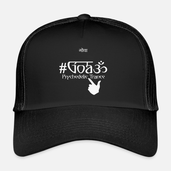 Psytrance Caps & Hats - #Goa - Trucker Cap black/black