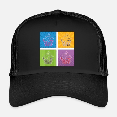 Graphic Art Pop Art / Graphic Novel: Cupcake - Trucker Cap