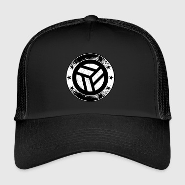 Beach Volleyball Volleyball emblem - ball net volley symbol sport - Trucker Cap