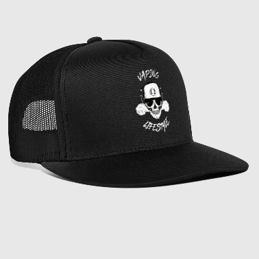 vaping lifestyle - vape steam steamer steaming Ohm - Trucker Cap