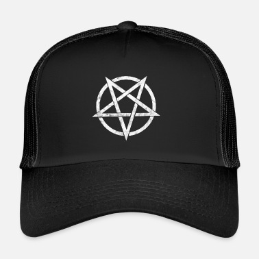 Satanique Pentagram, diable, Satan, grunge - Trucker Cap