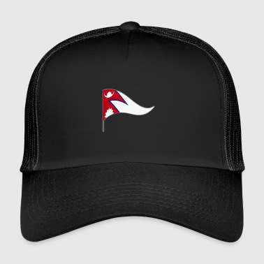 Nepal. Asian flag country color flag flag - Trucker Cap