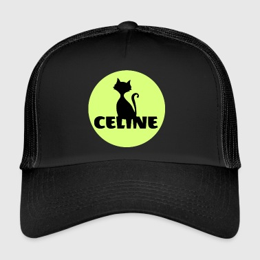 Celine First name Cats motif - Trucker Cap