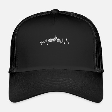 Chopper Motorcycle Chopper Heartbeat Gift Shirt - Trucker Cap