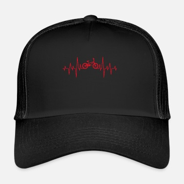 Pulse BMX Heartbeat Pulse ECG Heart Rate Gift Bike - Trucker Cap