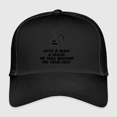 Villain giv a man a mask clown - Trucker Cap