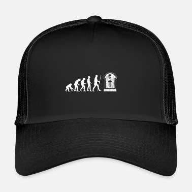 Goth Evolution - Tombstone - The End - Gift - Trucker Cap