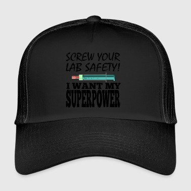 Men Super Power Syringe Health Screw Lab Safety - Trucker Cap