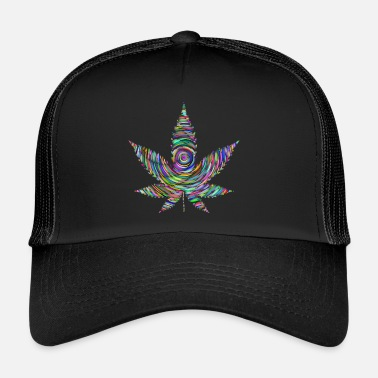Trippy Rainbow Weed - Trucker Cap