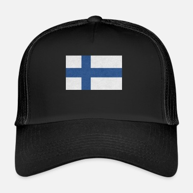 Scandinavia Finland Flag Motif Design Gift Idea Cool - Trucker Cap