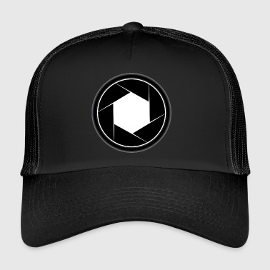 Camera Aperture Logo Photographer Gift - Trucker Cap