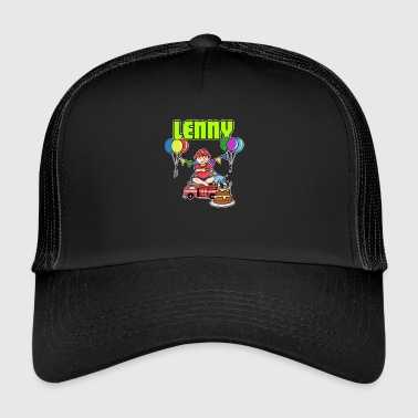 Fire Department Lenny Gift - Trucker Cap