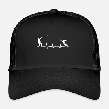 Ultimate Frisbee Heartbeats Ultimate Frisbee Sports T-shirt - Trucker Cap