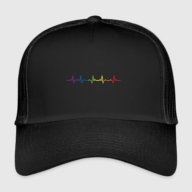 Heartbeats LGBT Rainbow T-shirt - Trucker Cap