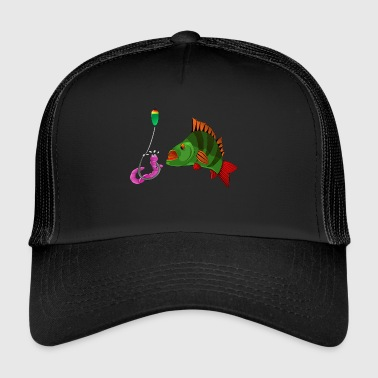 Poser - Fishyworm - perch fishing - Trucker Cap