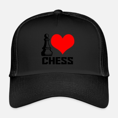 I Heart i heart chess - Trucker Cap