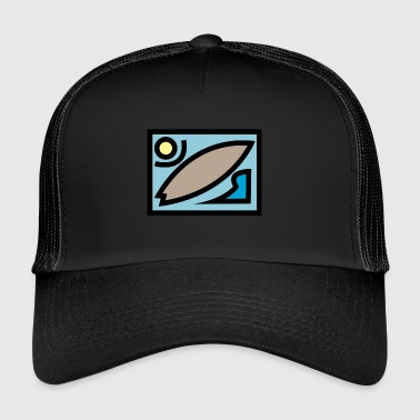 surf e beach dsign colore - Trucker Cap