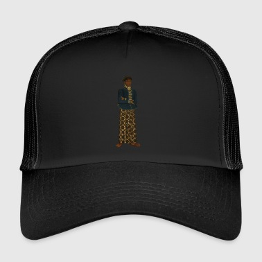 Native American Native American / Indian with skirt - Trucker Cap