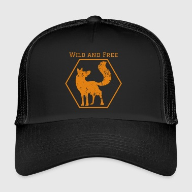 Wild and free fox gift animal wilderness idea - Trucker Cap
