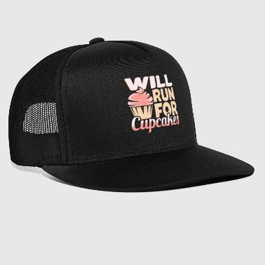 Will run for cupcakes Funny baking - Trucker Cap