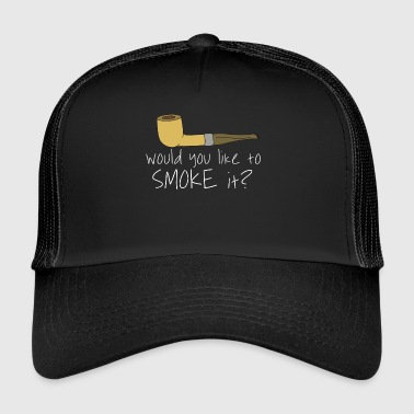 Whistle Pipes Smoking Smoke Tupakointi Gift Idea - Trucker Cap