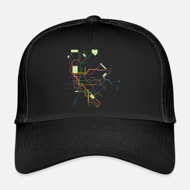 Métro Métro métro plan New York - Trucker Cap