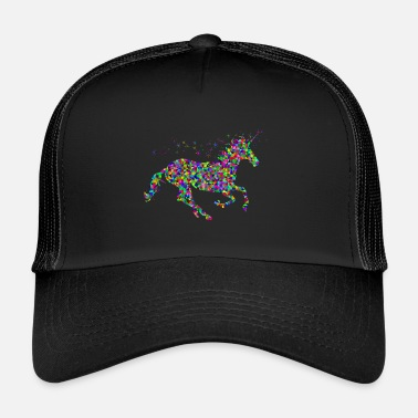 Kitsch Colorido, unicornio, kitsch, animal - Gorra de camionero