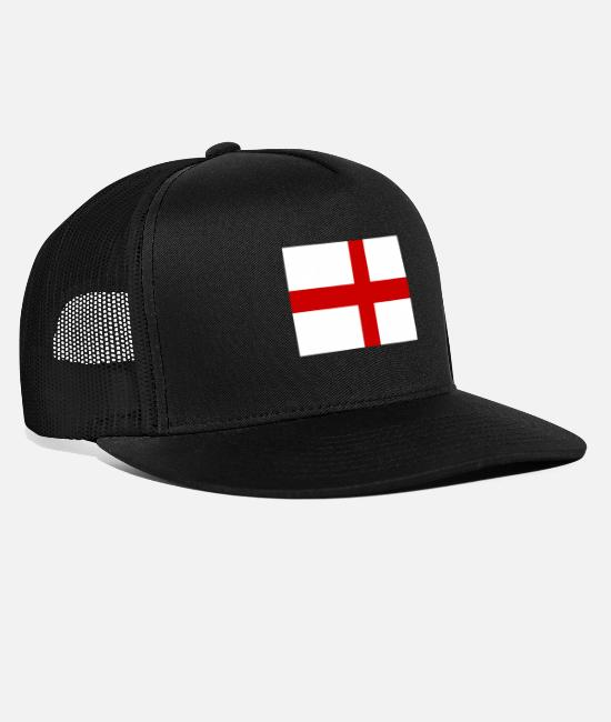 English Caps & Hats - England - Trucker Cap black/black