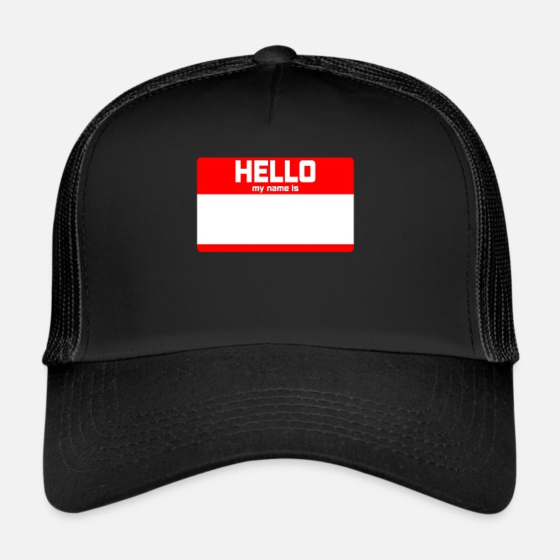 Hello My Name Is Caps & Hats - HELLO MY NAME IS ... - Trucker Cap black/black
