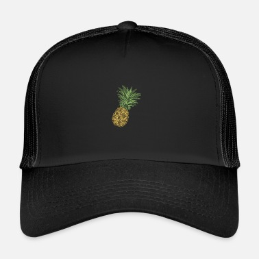 Indie Retro Pineapple | Modern Hawaiian surfer design - Trucker Cap