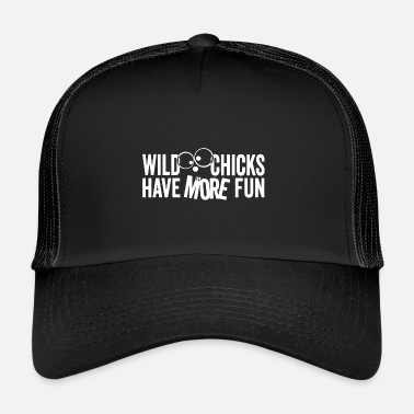 Wild Chicks Shirt einfarbig - Trucker Cap