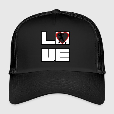 Love love tennis star wimbledon - Trucker Cap