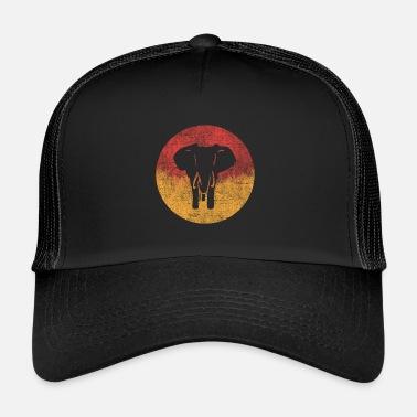 Silueta Silueta de elefante - Gorra trucker 5a4d98ac20e