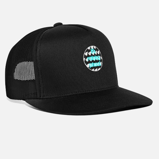 Pizza Caps & Hats - Pizza - Trucker Cap black/black