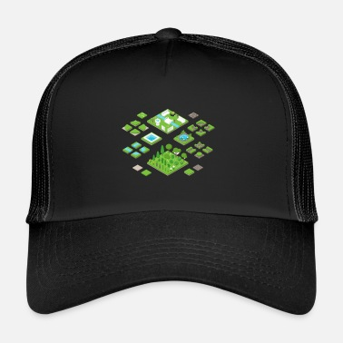 Area Green areas - Trucker Cap