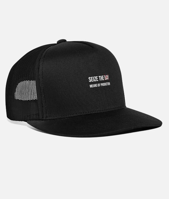 Social Caps & Hats - SEIZE THE MEANS OF PRODUCTION - Trucker Cap black/black
