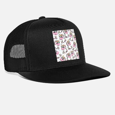 Funny Unicorn The Rainbow Pinking Pattern - Trucker Cap