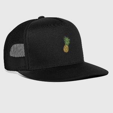 Retro Pineapple | Modern Hawaiian surfer design - Trucker Cap