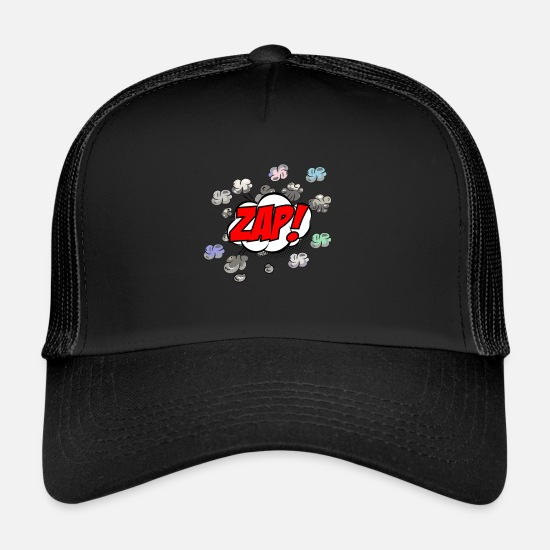 Comic Book Caps & Hats - Comic Zap - Trucker Cap black/black