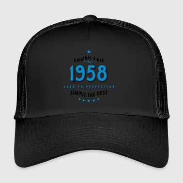 1958 original since 1958 simply the best 60th birthday - Trucker Cap