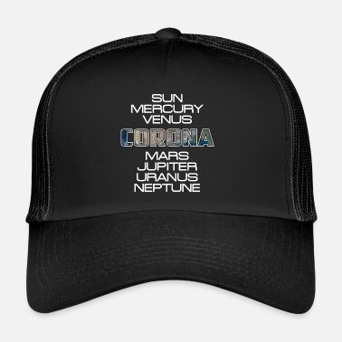 Corona Aurinkokunta Planet Earth Corona lahja - Trucker Cap