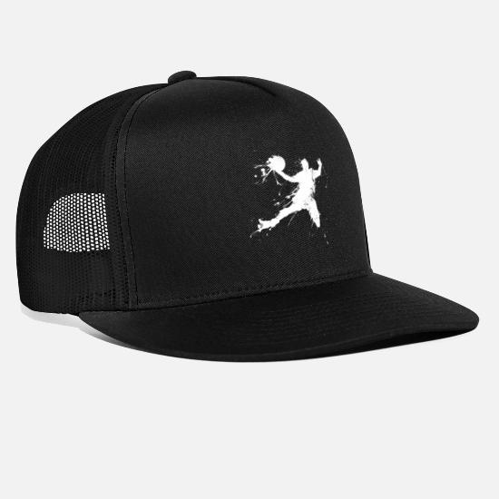 Slam Caps & Hats - Slam dunking basketball player - Trucker Cap black/black