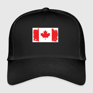 Canadian Flag Marijuana - Trucker Cap