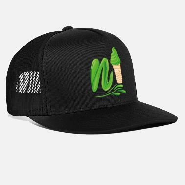 Plutonium N'ice Ice Cream Emoji with a N. Green Soft Ice - Trucker Cap