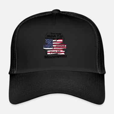 Minneapolis THÉRAPIE DE VACANCES DE VOYAGE AMERICA USA Minneapolis - Trucker Cap