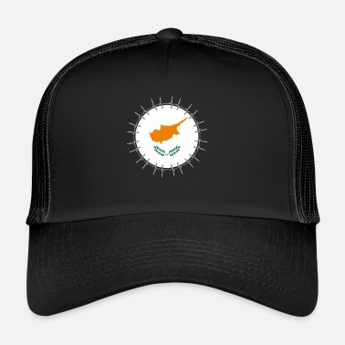 Cyprus Love heartbeat ECG home holiday Roots Cyprus pn - Trucker Cap