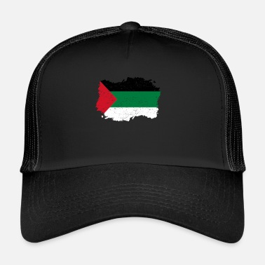 Palestinian Roots roots flag homeland country palestine palaest - Trucker Cap